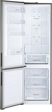 Двухкамерный холодильник Daewoo RNV 3610 ECH серебро холодильник daewoo fgk51efg двухкамерный серебристый