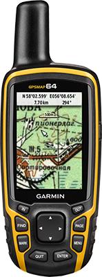 Навигатор Garmin GPSMAP 64 Russia (черно-желтый) ram b 149z ga41u крепление ram mounts для навигаторов garmin astro 320 gpsmap 62 series