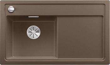 Кухонная мойка BLANCO ZENAR 45 S-F (чаша слева) SILGRANIT кофе с кл.-авт. InFino 523824 кухонная мойка blanco zenar 45 s f правосторонняя белый
