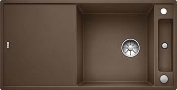 Кухонная мойка BLANCO AXIA III XL 6 S InFino Silgranit мускат ( доска стекло) 523518 кухонная мойка blanco axia iii xl 6 s infino silgranit мускат столик ясень 523508