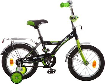 Велосипед Novatrack 14'' ASTRA чёрный 143 ASTRA.BK5 детский велосипед для мальчиков novatrack astra 60747