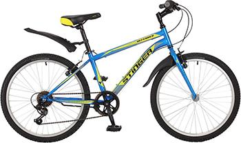 Велосипед Stinger 24'' Defender 14'' синий 24 SHV.DEFEND.14 BL7 stinger stinger детский велосипед 24 latina 14 розовый