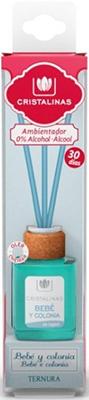 Арома-диффузор CRISTALINAS Mikado для жилых помещений с ароматом детского крема 18 мл
