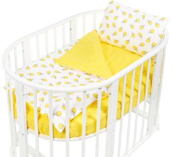 Комплект постельного белья Sweet Baby Yummy Giallo (Желтый) в круглую/овальную кровать 4 предмета