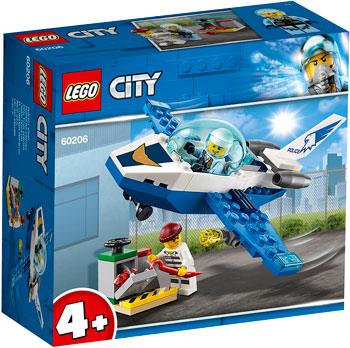Конструктор Lego Воздушная полиция: патрульный самолёт 60206 City Police lego city police station architecture building blocks model kit plate educational toys for children l60047