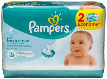 Салфетки детские Pampers Baby Fresh Clean 128 шт lambert kay 013trp 5712 fresh n clean cologne spray fresh floral scent