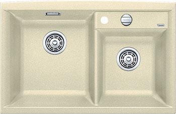 Кухонная мойка BLANCO AXIA II 8 SILGRANIT шампань с клапаном-автоматом чаша слева  мойка axia ii 6 s f rock grey 518834 blanco