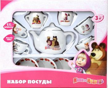 Набор посуды игровой ИГРАЕМ ВМЕСТЕ Маша и Медведь 11 предметов