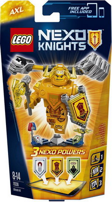 Конструктор Lego Nexo Knights Аксель - Абсолютная сила 70336 sbr16 free shipping 2pcs lot free shipping sbr16uu 16mm linear ball bearing block cnc router sbr16