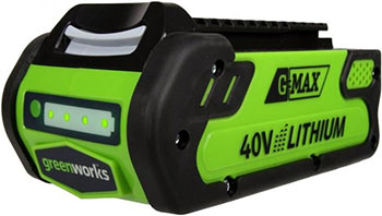 Литий-ионная аккумуляторная батарея Greenworks 40 V G-max G 40 B2 29717 литий ионная аккумуляторная батарея 40v g max greenworks g40b2