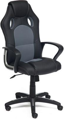 Кресло Tetchair RACER NEW (кож/зам/ткань черный/серый 36-6/12) офисное кресло tetchair racer кож зам ткань черный серый 36 6 12
