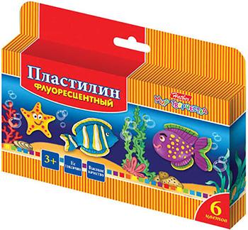 Пластилин Hatber ''Морская семейка'' 6 цв. KPf_06210 ранок морская фантазия разноцветный