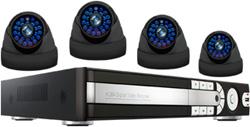 Комплект видеонаблюдения Ginzzu HS-D 04 KHW комплект видеонаблюдения kguard el421 4hw212b