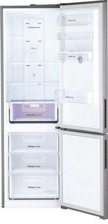 Двухкамерный холодильник Daewoo RNV 3610 EFH серебро холодильник daewoo fgk51efg двухкамерный серебристый