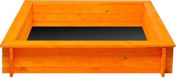 Песочница Paremo Афина (4 лавки  пропитка  подложка) PS 117-03 оранжевая