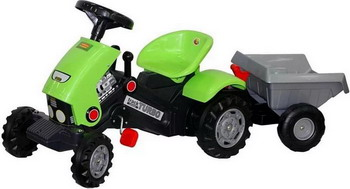 Педальный трактор с прицепом Coloma Y Pastor Turbo-2 52742_PLS барный стул woodville roxy бежевый