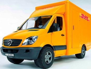 Фургон Bruder Mercedes-Benz Sprinter фургон DHL с погрузчиком 02-534 30pcs lot free shipping dhl mjk 0208fpc touchscreen
