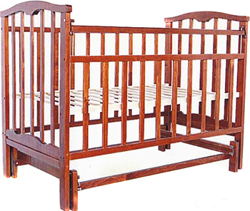 Детская кроватка Агат Золушка-3 классическая  маятник поперечный  Вишня обычная кроватка агат 52103 золушка 3 вишня