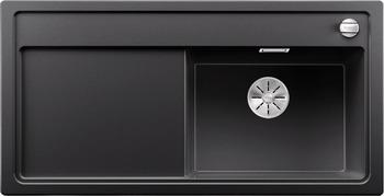 Кухонная мойка BLANCO ZENAR XL 6S (чаша справа) SILGRANIT антрацит с кл.-авт. InFino 523944 мойка кухонная blanco zenar 45s чаша справа белый с клапаном автоматом 519255