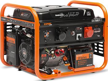 Электрический генератор и электростанция Daewoo Power Products GDA 7500 DPE-3 генератор бензиновый daewoo gda 3500e 2 8 3 2квт 208см3