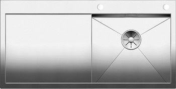 Кухонная мойка BLANCO ZEROX 5S-IF/А (чаша справа) нерж. сталь зеркальная полировка с клапаном-автоматом 521627 мойка кухонная blanco zenar 45s чаша справа белый с клапаном автоматом 519255