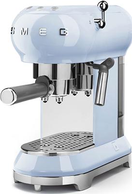 Кофеварка Smeg ECF 01 PBEU пастельная голубая smeg lgm861s