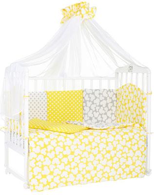 Комплект в кроватку Sweet Baby Fiocco Giallo (желтый/серый) 7 предметов комплекты в кроватку mummys hugs облака 125х65 см 7 предметов