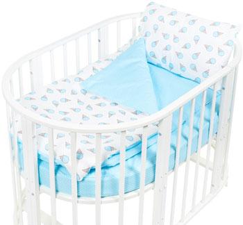 Комплект постельного белья Sweet Baby Yummy Turchese (Бирюзовый) в круглую/овальную кровать 4 предмета