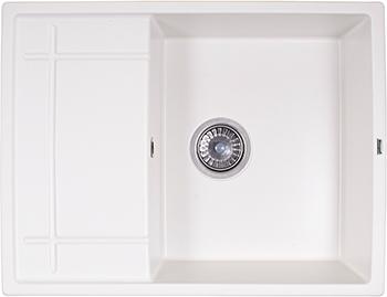 Кухонная мойка Weissgauff QUADRO 650 Eco Granit белый  weissgauff quadro 420 eco granit песочный