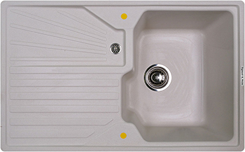 Кухонная мойка Zigmund amp Shtain KASKADE 800  индийская ваниль zigmund amp shtain integra 500 2 индийская ваниль