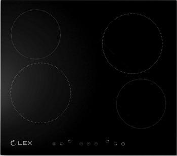 Встраиваемая электрическая варочная панель Lex EVH 640 Black панель варочная pyramida pfa 640 inox luxe