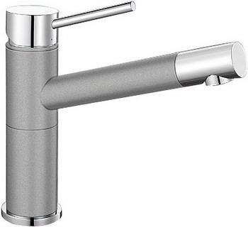 Кухонный смеситель BLANCO ALTA Compact хром/алюметаллик смеситель blanco alta compact 515318 жасмин