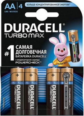 Батарейка Duracell LR6/MX 1500-4BL TURBO MAX AA livolo us standard base of wall light touch screen remote switch ac 110 250v 3gang 2way without glass panel vl c503sr page 3
