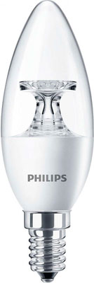 Лампа Philips Corepro candle ND 5.5-40 W E 14 840 B 35 CL лампа накаливания philips p45 60w e14 cl