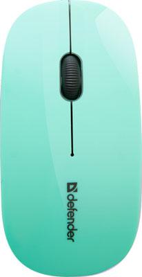 Мышь Defender NetSprinter MM-545 зеленый серый 52548 мышь defender netsprinter 440 black orange 52444
