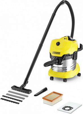 где купить Строительный пылесос Karcher WD 4 Premium желтый дешево