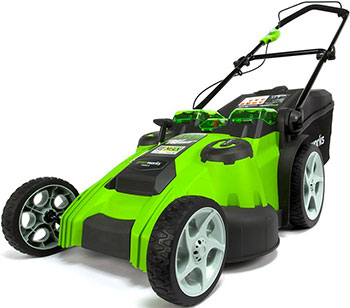 Колесная газонокосилка Greenworks 40 V G-max G 40 LM 49 DB без аккумулятора и зарядного устройства 2500207 аккумуляторная газонокосилка greenworks 40v g max gd40lm45 без аккумулятора и зарядного устройства