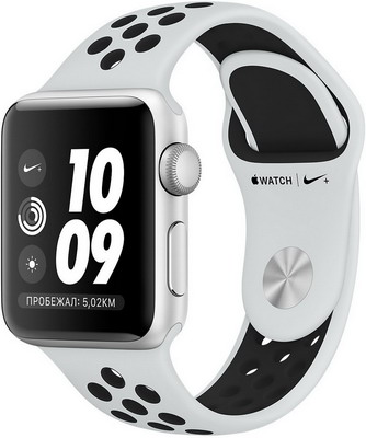 Часы Apple Watch Nike+ GPS Series 3 38 mm Sil Al Plat (MQKX2RU/A)