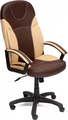 Кресло Tetchair TWISTER (кож/зам коричневый бежевый PU C 36-36/36-34/) кресло tetchair parma кож зам коричневый бежевый pu 36 36 36 34 06