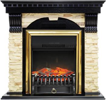 Каминокомплект Royal Flame Dublin арочный сланец с очагом Fobos FX BR (венге) 66211164923894 цена
