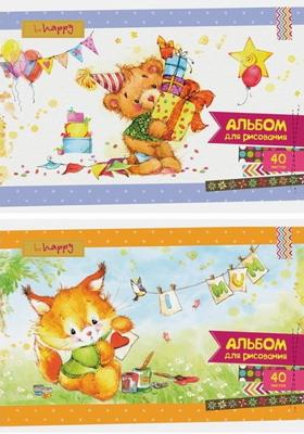 Альбом для рисования ArtSpace Мультяшки Cute fluffy 40 листов А40БЛ_9103 принадлежности для рисования спейс альбом для рисования мультяшки 20 листов