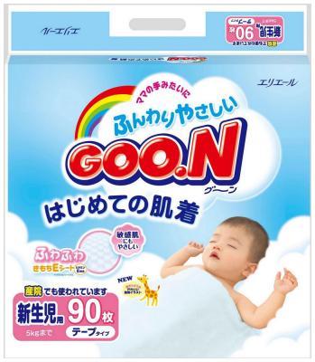 Подгузники GooN до 5 кг 90шт NB goon подгузники ss 0 5 кг 90 шт