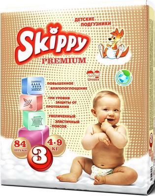 Подгузники Skippy Premium р-р 3 (4-9 кг) 84 шт подгузники skippy premium р р 3 4 9 кг 84 шт