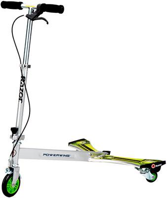Самокат-тридер Razor 100304 Powerwing DLX - металлик