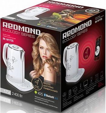 Чайник электрический Redmond RK-M 170 S-E SkyKettle белый кофеварка redmond rcm 1505 s skycoffee