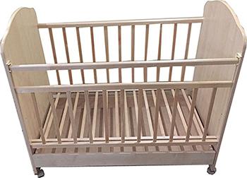 Детская кроватка Агат ''Золушка-9'' 120*60 классическая  колесо-качалка  ящик  Светлая