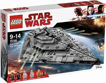 Конструктор Lego STAR WARS ''Звездный разрушитель'' 75190-L