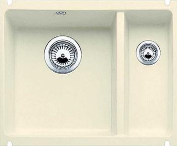 Кухонная мойка BLANCO 523744 SUBLINE 350/150-U керамика жасмин PuraPlus с отв.арм. InFino мойка subline 350 150 u cer basalt 516976 blanco