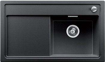Кухонная мойка BLANCO ZENAR 45 S (чаша справа) антрацит с кл.-авт. InFino мойка кухонная blanco zenar 45s чаша справа белый с клапаном автоматом 519255