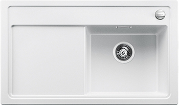 Кухонная мойка BLANCO 523795 ZENAR 45 S-F (чаша справа) SILGRANIT белый с кл.-авт. InFino кухонная мойка blanco zenar 45 s f правосторонняя белый